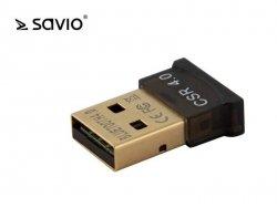 Elmak Adapter komputerowy USB Nano SAVIO BT-040 Bluetooth 4.0, 3Mb/s, zasięg 50m