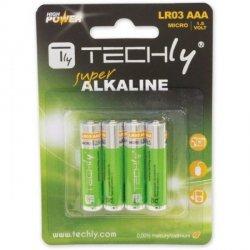Techly Baterie alkaliczne LR03 AAA 4szt, (IBT-LR03T4B)