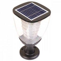 SUNEN PowerNeed Solarna lampa ogrodowa mała LED x16, panel 1.6W czarna