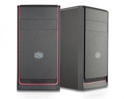 Cooler Master Obudowa MasterBox E300L czarno-czerwona (USB 3.0)