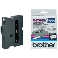 Taśma Brother 12mm/8m czarna z białym nadrukiem TX-335