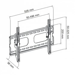 UCHWYT DO MONITORA PLASMA/LCD czarny 23-37'' do 45KG AR-17 ART
