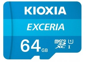 Kioxia Karta pamięci microSD 64GB M203 UHS-I U1 adapter Exceria