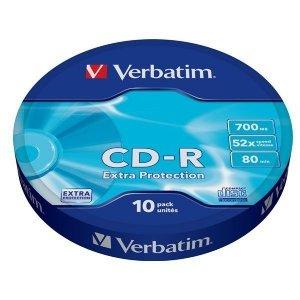 Verbatim CD-R 52x 700MB 10P SP Extra Protection Wrap 43725