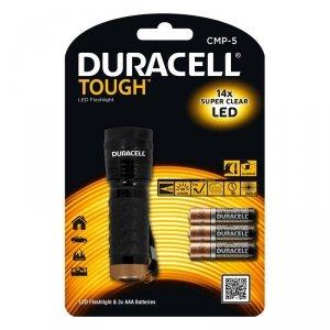 Duracell Latarka LED TOUGH CMP-5, wodoodporna + 3x AAA