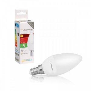 Whitenergy Żarówka LED C37 E14 7W 556lm ciepła biała mleczna