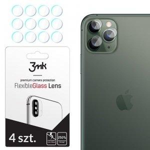 3MK Szkło hybrydowe FlexibleGlass Lens iPhone 11 Pro Max na obiektyw aparatu 4 szt