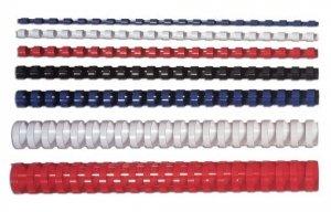 Fellowes Grzbiet plastikowy okrągły 8mm czarny, 100 sztuk