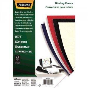 Fellowes Okładki skóropodobne DELTA A4 zielony- FSC, 100 sztuk