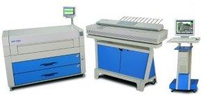 Cyfrowa kopiarka wielkoformatowa KIP 7200 skaner mono (4 rolki)
