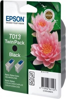 Wkład czarny do Epson Stylus Color 480/580/C20SX/C40UX dwupak T013