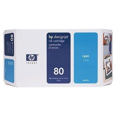 Tusz (Ink) HP 80 cyan (350ml) do DnJ 1050C/1050C+/1055CM/1055CM+ C4846A