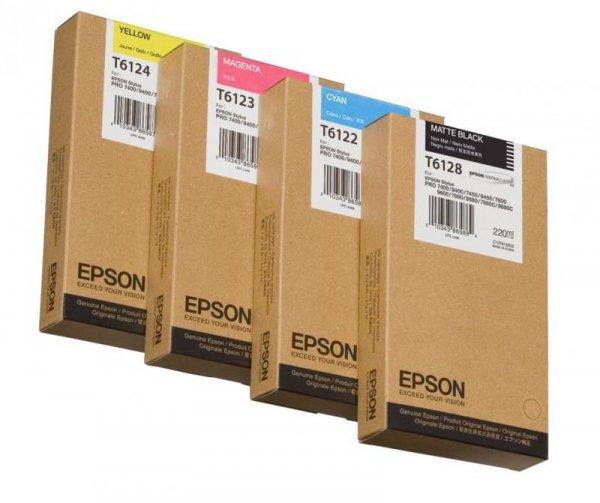 Atrament Yellow 220 ml do Epson Stylus Pro 7400/7450/9400/9450 C13T612400