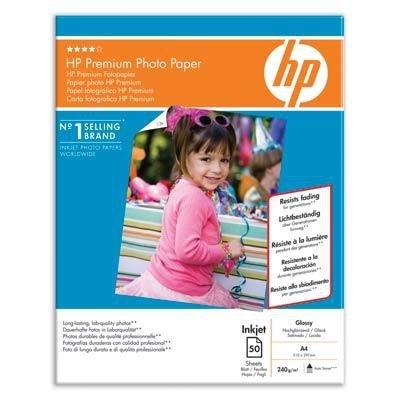 Papier A4, 240g, 50ark. - HP Premium Photo Paper, błyszczący