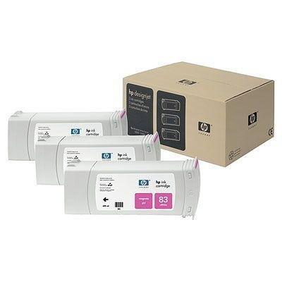 Tusz (Ink) HP 83 magenta (680ml) system UV do DnJ 5000/5000ps/5500/5500ps - Trzypak [C4942A] C5074A
