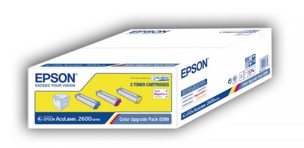 Toner Color Upgrade Pack do Epson AcuLaser 2600 Series (C/M/Y); wydajnosc 2 000 str.