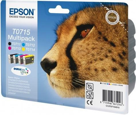 Multipack CMYK 4 kolory do Epson Stylus D78/DX40x0/50x0/60x0/7000F/ 7400/8400/9400; T0715