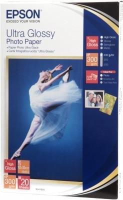 Papier Epson Ultra Glossy Photo Paper, 100 x 150mm, 300g/m2, 20 kartek S041923