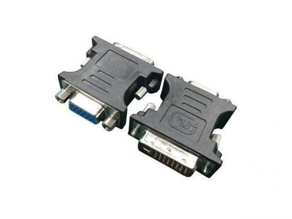 Gembird Adapter DVI->VGA (24M/15F) czarny