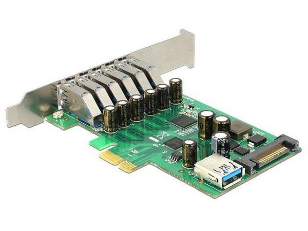 Delock Karta PCI Express -> USB 3.0 6-port + 1x internal USB