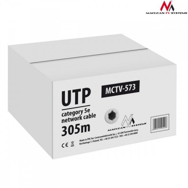 Maclean Kabel skrętka UTP Cat 5e 4*2*50 CCA 305m MCTV-573