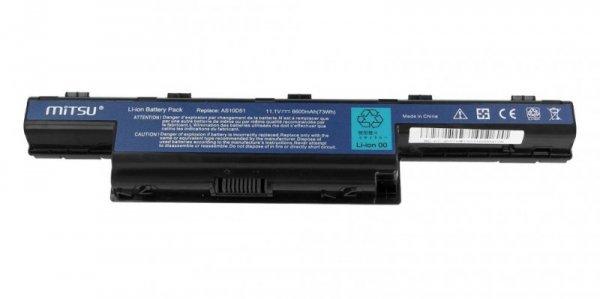 Mitsu Bateria do Acer Aspire 4551, 4741, 5741 6600 mAh (71 Wh) 10.8 - 11.1 Volt
