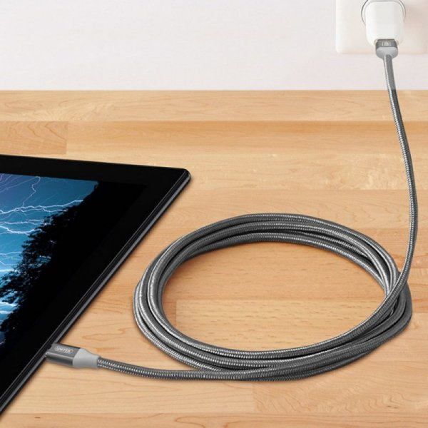 Unitek Kabel PREMIUM USB-microUSB; GRAY; Y-C4026AGY