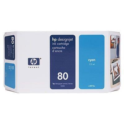 Tusz (Ink) HP 80 cyan (175ml) do DnJ 1050C/1050C+/1055CM/1055CM+ C4872A