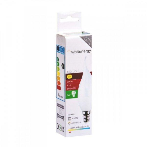 Whitenergy Żarówka LED E14 C37L 396lm ciepła biała mleczna