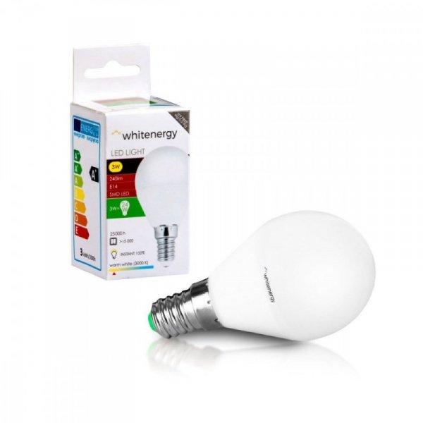 Whitenergy Żarówka LED 6XSMD2835 G45 E14 3W 240lm ciepła biała mleczna