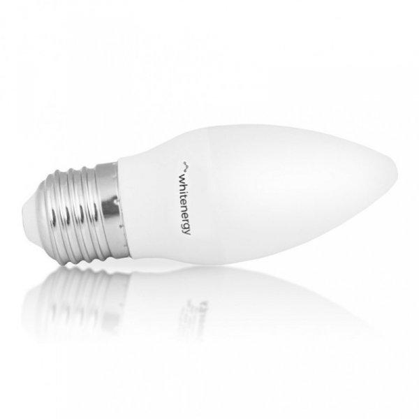 Whitenergy Żarówka LED C37 E27 5W 396LM ciepła biała mleczna