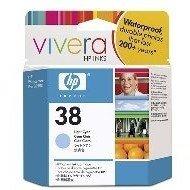 Wkład atramentowy HP No 38 light cyan Vivera pigmentowy do Photosmart A516/618/717/436/B8850/B9180 | 27ml; 850 zdjęć | C9418A