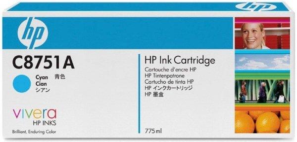 Turkusowy wkład drukujący HP z atramentem Vivera - C8751A