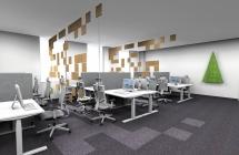 biurko z elektryczną regulacją wysokości eModel białe