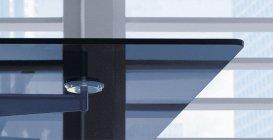 Biurko gabinetowe Xeon szkło hartowane grafit