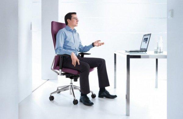 Active 21S chrom P48PU fotel biurowy obrotowy krzesło obrotowe biurowe PROFIM Biurokoncept