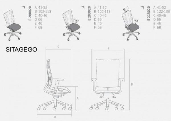 SITAGEGO E200020 fotel obrotowy biurowy Sitag Biurokoncept