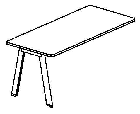 Biurko simplic - szkic