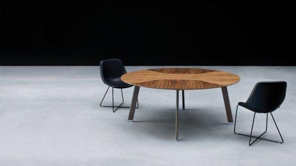 Stół konferencyjny Simplic -  blat stołu okleina naturalna
