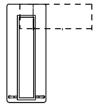Biurko simplic - rzut z góry