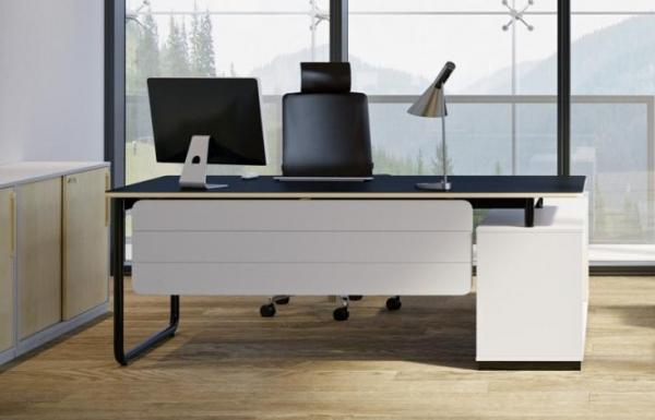biurko do integracji z sideboardem na podstawie U