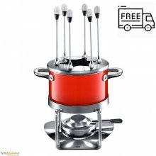 Silit Energy Red - zestaw do fondue 16 cm-2 L