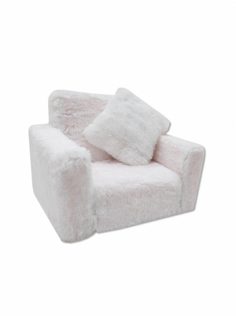 Fotel rozkładany dla dzieci- Biały