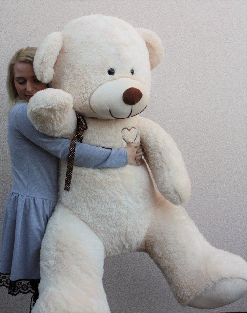 Miś Gigant 190 cm - JASNY BEŻ