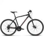 Rower Kross Evado 5.0 28 czarny-czerwony mat