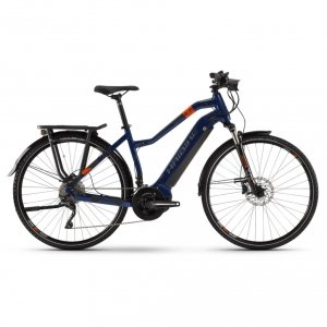 Rower elektrycny Haibike SDURO Trekking 5.0 Low-Step 28 niebiesko-pomarańczowo-tytanowy