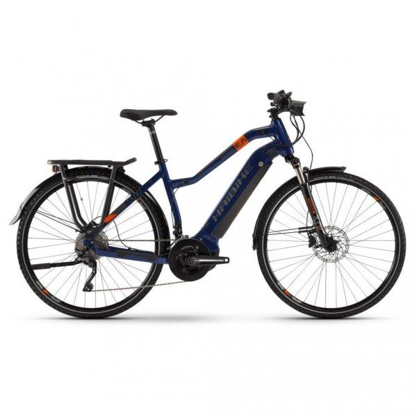 """Rower elektrycny Haibike SDURO Trekking 5.0 Low-Step 28"""" niebiesko-pomarańczowo-tytanowy"""