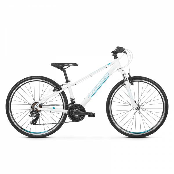 """Rower Kross Evado Junior 26"""" biały-turkusowy-niebieski"""