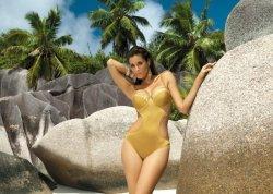 Kostium kąpielowy Diana M-184 złoty (56)
