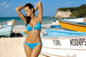 Kostium kąpielowy Fergie Turchese M-247 Niebieski (77)